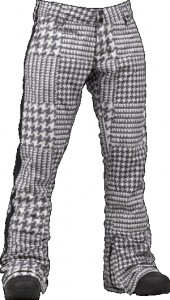 Houndstooth checks and tuxedo stripe add to the punk rock aesthetic.