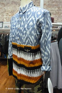 Two styles in one are among key trends in streetwear mixing Native American prints and colors in button-downs.