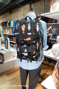 Fishing, camping, and outdoorsman motifs round-out many of the backpack brands graphics.
