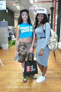 The girls are recording artists and also starting their own ladies streetwear store in downtown Brooklyn.