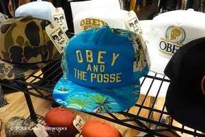 Obey continues to be a strong contender and among trendsetting with their floral and camo caps.