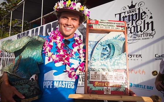 0c017e85c2 Julian Wilson (AUS) has won the Billabong Pipe Masters and Vans Triple Crown  of Surfing. Photo by ASP   Laurent Masurel.