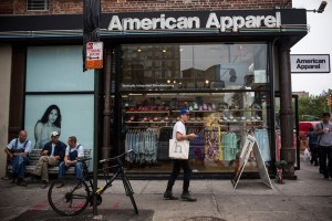 American Apparel stores (230) will be a huge part of the restructuring plans. Photo by Andrew Burton/Getty Images.