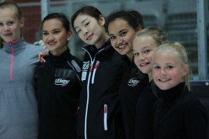 Young skaters from the Youth Olympic Games. Photo courtesy of IOC.