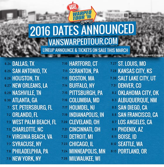 Warped Tour 2015 Announce Full Dates And Cities - Kerrang!
