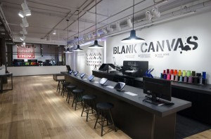 Converse adds Blank Canvas Customization area in their Soho Flagship store.