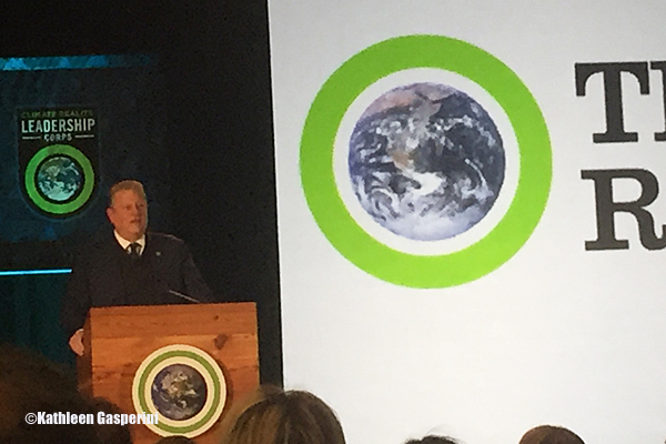 Former Vice President Al Gore launches into his first of many training presentations, taking place in March, 2017, Denver, CO,