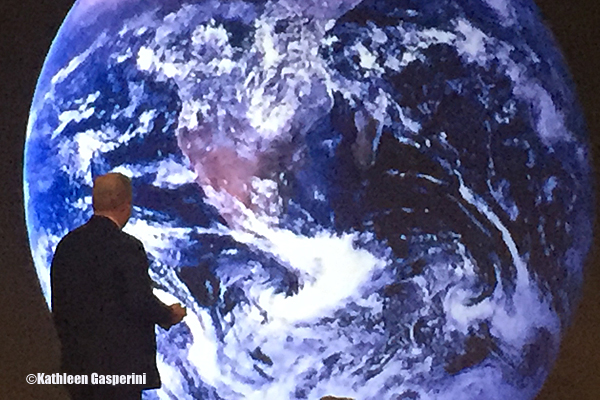 """The historic image from space, known as the """"Blue Marble,"""" was the first image of earth that anyone had ever seen."""